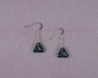 Swarovski Crystal and Silver Earrings