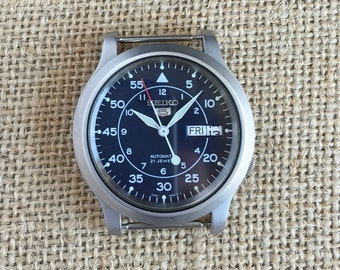 Add a Seiko Military Watch to Your Custom Strap - Seiko 5 SNK807 Automatic Watch