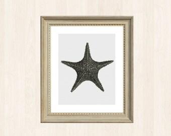 Starfish Stitch Pattern Sea Star Vintage Embroidery Oceanic Antique Cross Stitch Pattern Marine DIY Ocean Decor Biology Gift Starfish