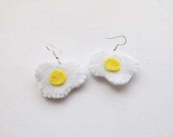 Felt Egg Earrings