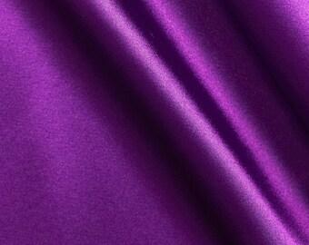 Apparel Fabric, Clothing Fabric, Charmeuse Purple, Satin Fabric, Scarves Fabric, Dress Fabric, Blouse/Belt/Sash Fabric, Home Decor