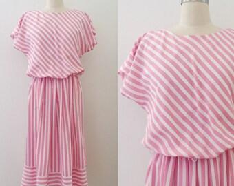 Vintage 80's candy stripe dress