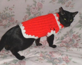 KNITTED CAT SWEATER