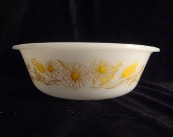 Jeannette Glasbake Bowl, J514, 2 qt, Casserole, Baking Dish, Handles,Vintage, 1960's