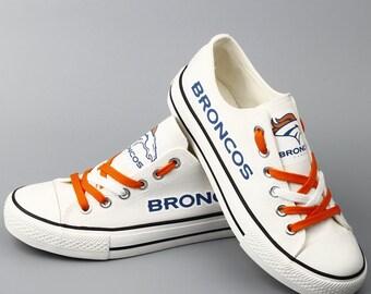 Denver Broncos Sneakers White Broncos Tennis shoes