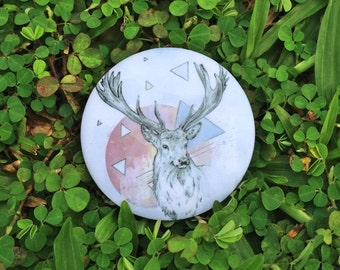 Deer - Pinback Button Badge