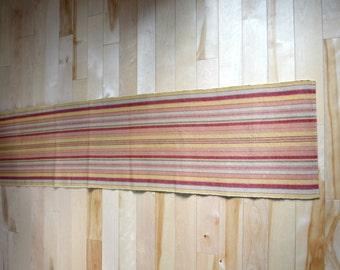 Vintage boho woven striped table runner