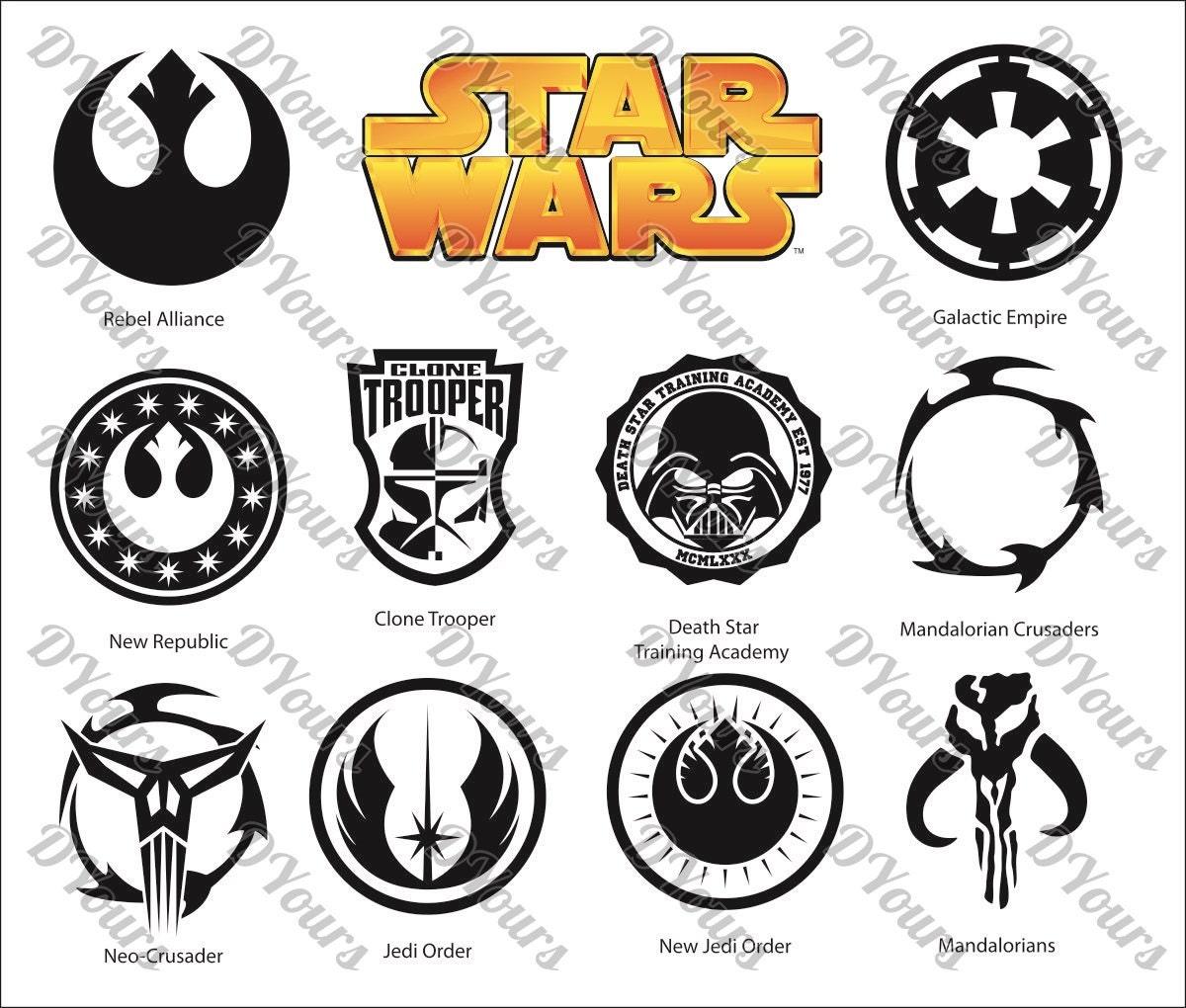 star wars symbols clipart 11 vector models vector collection svg cdr ai pdf eps files. Black Bedroom Furniture Sets. Home Design Ideas