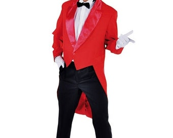 Summer Sale Gents Red Tailcoat - Circus / Ringmaster etc