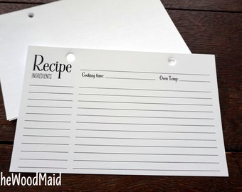 Recipe Card insert for our recipe book