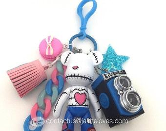 Popobe Stitched Heart Bag Charm