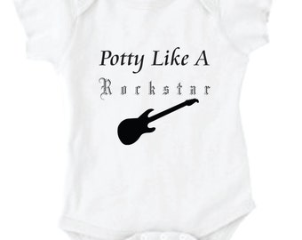 Potty Like A Rockstar Onesie