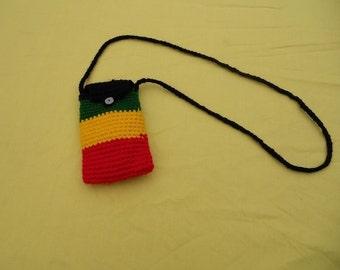 Rasta/IPhone crochet purse/shoulder bag RLW205