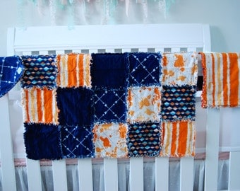 Baby Rag Blanket, Burp Cloth and Bib Set
