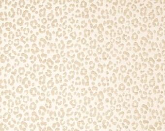 BEACON HILL Yaguara Silk Jacquard Embroidered Fabric 5 Yards Cashmere