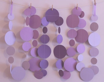 Purple Ombré Garland 3m or 6m