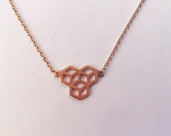 Geometric Shapes Copper Neckalce