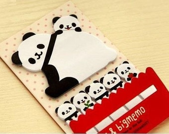 Panda Sticky Notes - Cute Kawaii Post-It Notes / Stationery / Stationary / School Supplies / Memo / Stick and Big Memo / Cute Sticky Notes