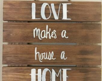 Custom Wood Pallet Wall Sign