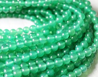 8mm Green Agate, Round Beads, 615 Supply, Bright Green Beads, 8mm Jewelry Beads, 8mm Gemstone Beads, 8mm Gemstone, 8mm Round Beads,