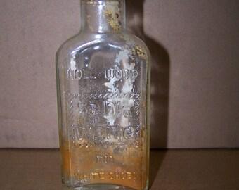 Vintage Shoe Polish Bottle hollywood Sani-white