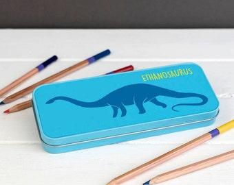 Dinosaur Pencil Case - Personalised Children's Dinosaur Pencil Case