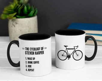 Cyclist Mug Gift - Personalised Cycology Funny Mug - Cycling Lover - Bike Lover - Cycling Gift