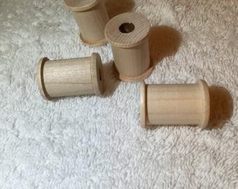 """Wooden Spools*1 3/16"""" x 7/8"""" *4*"""