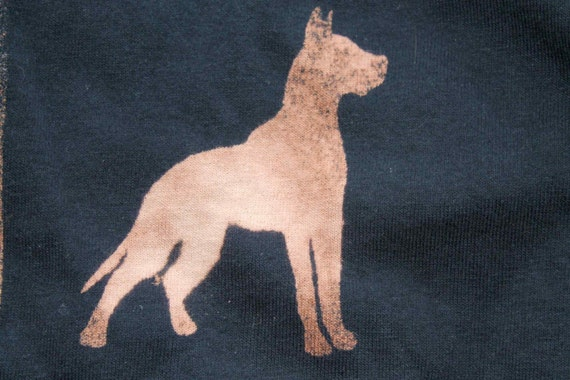 Dog T-shirt Adult Unisex - Crew Style Doberman Pinscher with customisable to your dog