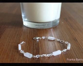 Quartz sterling silver bracelet