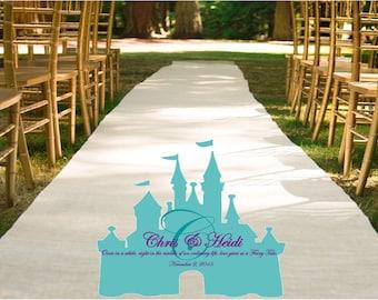 Fairy Tale PERSONALIZED CUSTOM Wedding Aisle Runner Monogram
