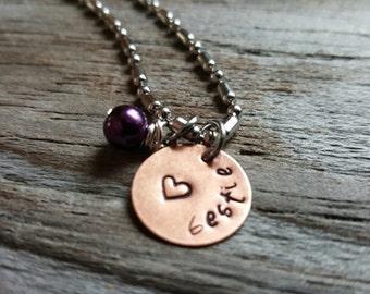 Hand Stamped Necklace - Bestie Necklace - Best Friend Gift - Friend Gift - Bestie Gift