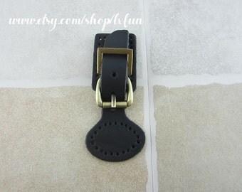 Dark Navy Blue Leather Bag Purse Locks