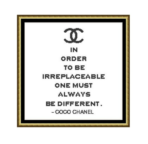 Cross Stitch Pattern Coco Chanel QuoteInstant Download PDF