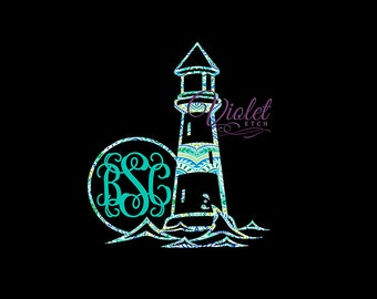Lighthouse-Vine Monogram-Yeti Decal-Cup Decal-Vine Monogram Decal-Lilly Inspired-Sun Monogram-Window Decal-Custom Decal-Laptop Decal