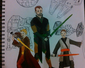 Drawing of YOU as your favorite fictional characters! (Star Wars, Avengers, Ninja Turtles, Fantasy Creatures, etc...)
