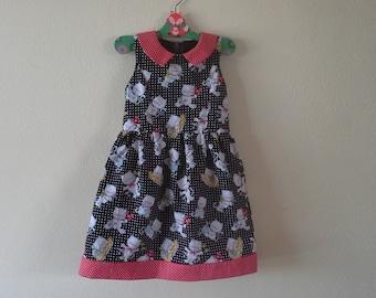Puperita Pattern, Little girl dress, girls clothing. Size 6 years