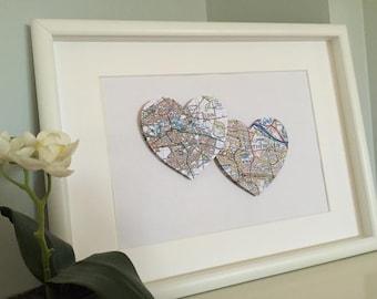 3D Map Hearts