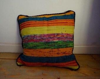 Ethnic Indian dhurrie floor cushion