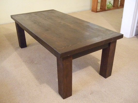 solid wood coffee table solid wood farmhouse by natshandcrafted. Black Bedroom Furniture Sets. Home Design Ideas