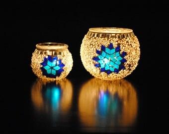 Antalya - Handmade Turkish Candleholder Pair