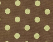 Brown with Green Dots Cot...