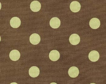 Brown with Green Dots Cotton