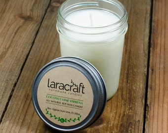 Coconut Lime Verbena Soy Candle 8 oz.