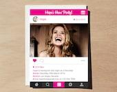 Instagram Inspired Hens Night Invitation, Bachelorette Party (Digital File Only)