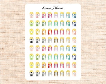 Mini Popcorn Box (matte planner stickers, perfect for planners)