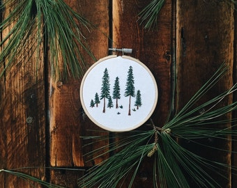 Pine Tree Embroidery Hoop