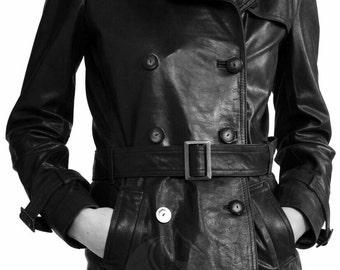 BNWTStallion Women's LAMBSKIN Leather Coat Knee Length ST226
