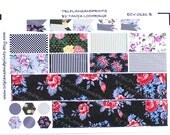ECV-0131-B Vintage Floral & More Shabby Chic Bottom Washi/Half-Boxes/Layered Flags Sheet for Erin Condren