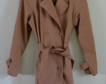 Women's London Fog Dusty Rose Trench Coat